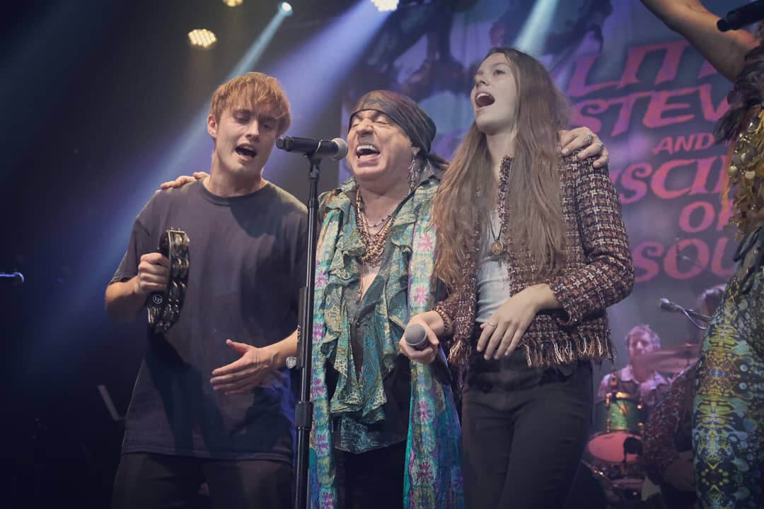 Courtney Hadwin with Stevie Van Zandt and Sam Fender